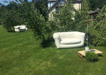 piepūšamais dīvāns Siguldā kāzas